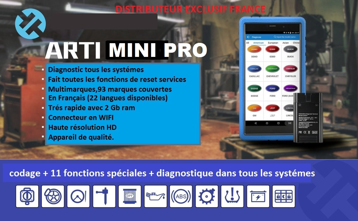 valise diagnostic auto multimarque pro